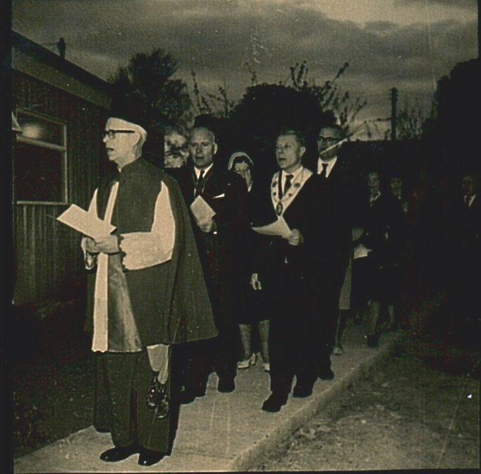 Mgr John Howell VG opening St Monica's
